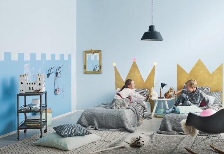 Magiczny zamek w pokoju dziecka z Tikkurila krok po kroku